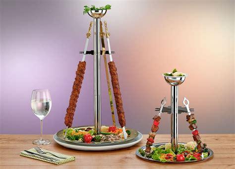 gueren metal service  skewer stand kebab