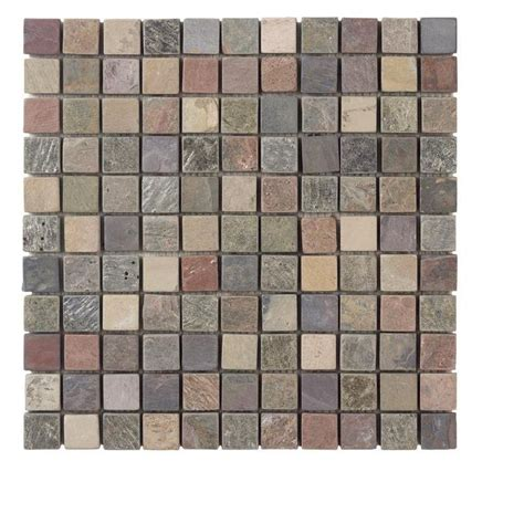 jeffrey court tumbled mixed slate 12 in x 12 x 8 mm