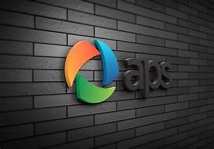 3d wall logo mockup With 3d wall logo mockup template free
