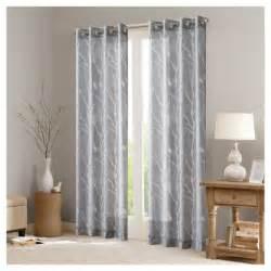 layla sheer bird window curtain panel gray 50 quot x63 quot target