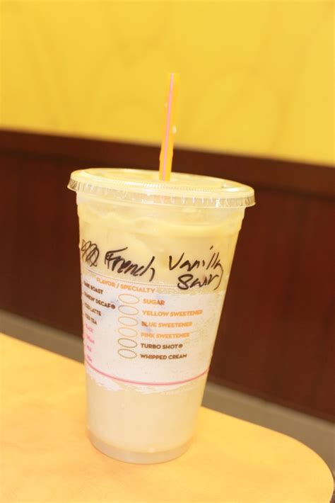 America s iced coffee is now bottled and ready to go. Dunkin Donuts Medium French Vanilla Iced Coffee With Cream ...