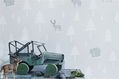 Into The Wild Woodland Themed Wallpaper From Hibou Home
