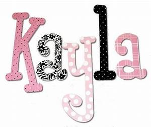 Kayla Pepper Hand Painted Wall Letters - The Frog and the ...