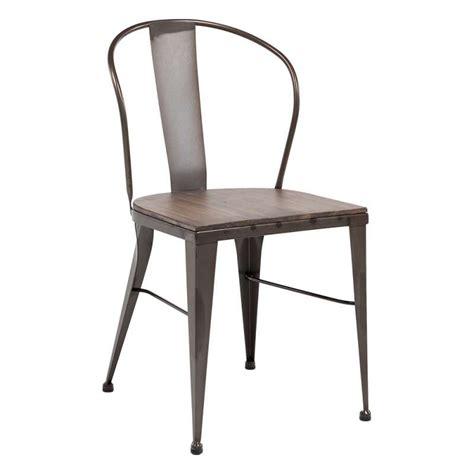 chaise en métal chaise industrielle vintage en métal 631 4 pieds