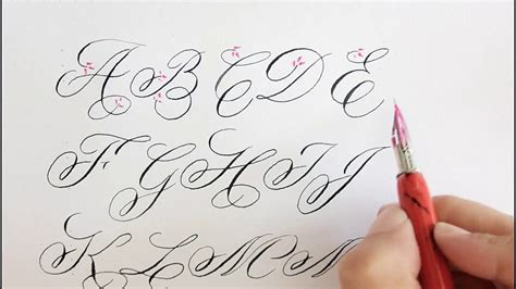 How To Write In Calligraphy For Beginners  Easy Way Youtube