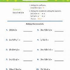 Multiplying Monomials Worksheets Educationcom