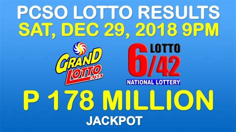 Baba ijebu results are published instantly after the draw result announcement. Lotto Result December 29 2018 9pm PCSO (6/55, 6/42, 6 ...