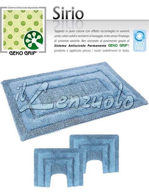 tappeti bagno antiscivolo tappeto bagno antiscivolo in ciniglia sirio parure 3 pezzi
