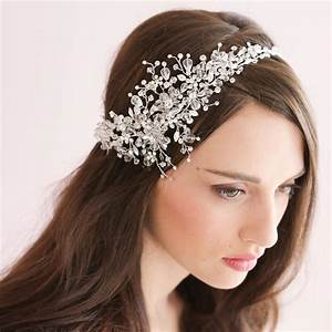 Handmade Crystal Ice Bridal Sparking Headpiece Beaded