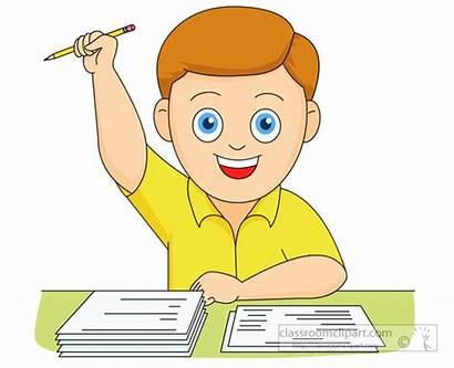Exam Clipart Test Happy Examination He Boy