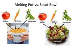 define salad bowl and melting pot image mag