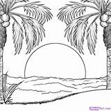 Sunset Coloring Pages Print sketch template