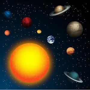Planet in sun orbit galaxy Free vector in Adobe ...