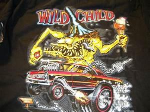 Free Tee Shirt Design Rat Fink Wild Child Gto Pontiac Big Daddy Ed Roth Black T