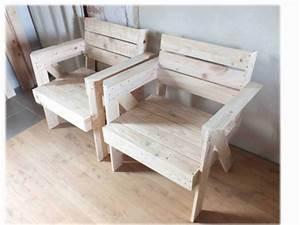 Palette De Bois : fauteuils en bois de palette pallet armchair 1001 pallets ~ Premium-room.com Idées de Décoration