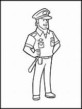Coloring Police Officer Pages Boys Printable Recommended sketch template