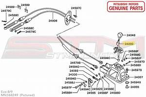 Mn168249 Mr580531ha Gear Shift Lever Oem Evo 8  9