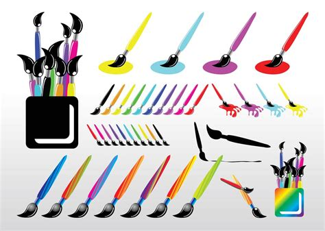 paint brush vector graphics freevector