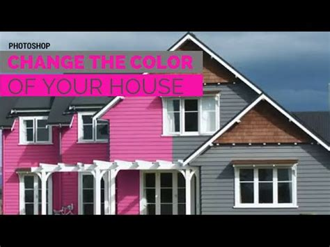 change the color of your house in adobe photoshop to paint