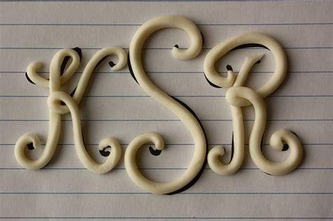 fondant letter cutters brush  backside   letters  clear alcohol