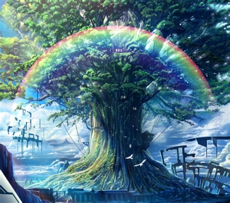 Rainbow Anime Wallpaper - rainbow treehouse other anime background wallpapers on