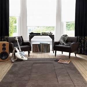 beautiful tapis salon marron chocolat contemporary With tapis de salon design