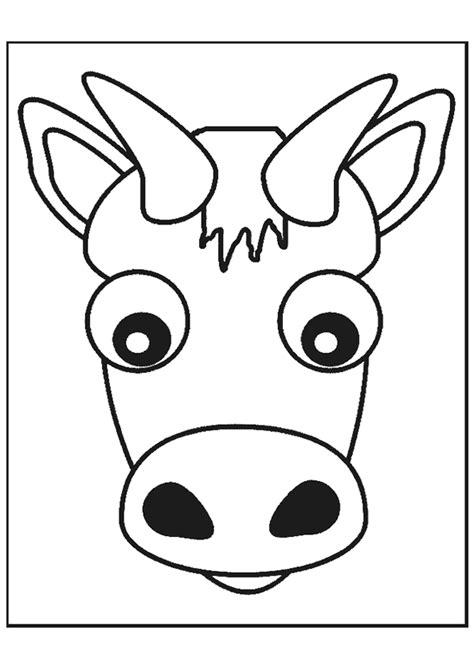 Kleurplaten Koeienkop by Dessin 224 Colorier D Une T 234 Te De Vache Coloriages Animaux