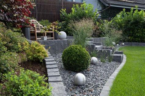 garten bepflanzen ideen gartengestaltungsideen steingarten anlegen mit passender