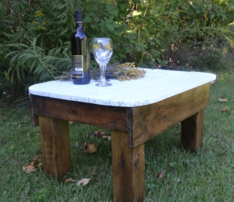 599.39 kb, 1024 x 683. Primitive Country Side Table made from reclaimed wood - Farmhouse - Side Tables And End Tables ...