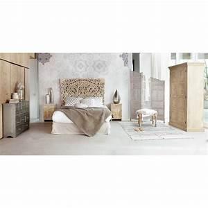 Maison Du Monde Bett : geschnitztes bett kopfteil aus massivem mangoholz b 160 cm himalaya maisons du monde ~ Orissabook.com Haus und Dekorationen
