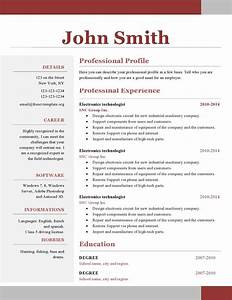 One page resume template free download resume for Free resume free download