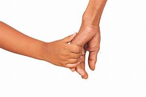 Hand Little Kid Hold Hand Old Man Stock Photo - Image of ...