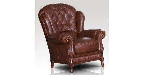 Arizona Genuine Italian Sofa Armchair Tabak Brown Leather