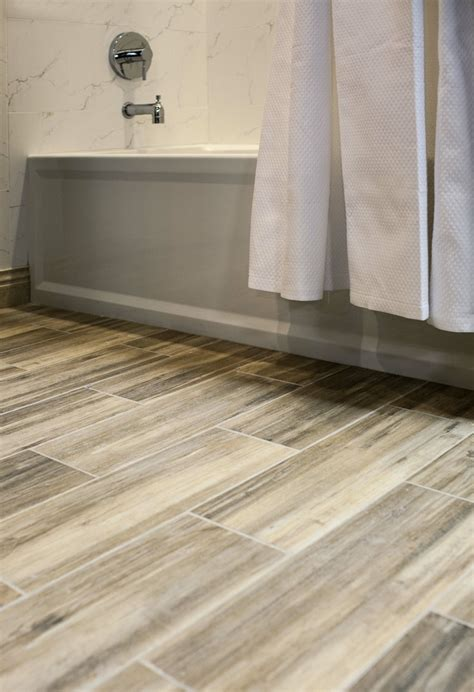 faux wood ceramic tile   bathroom easy  clean