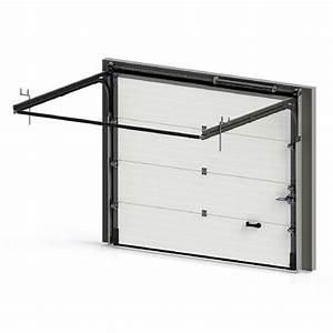 porte de garage sectionnelle premontee a rainures porte With mécanisme porte de garage sectionnelle