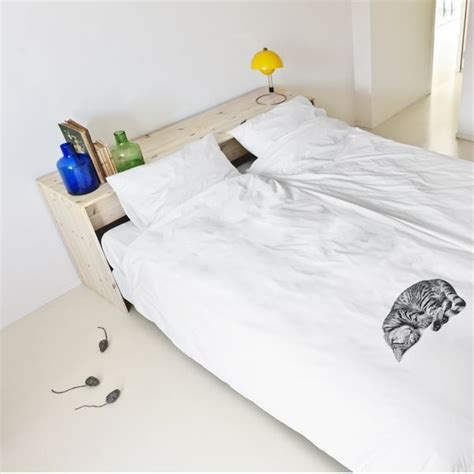cat duvet cover sleeping kitten printed comforters ollie the cat duvet