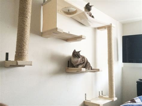 amaca per gatti mobili per gatti percorsi lettini tiragraffi amaca parete