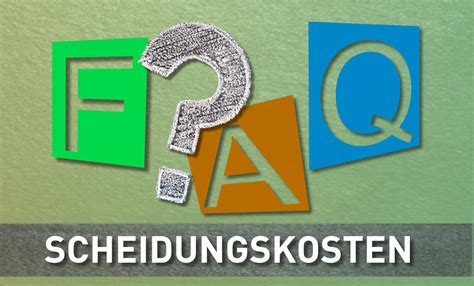 faq scheidungskosten  scheidung deutschland