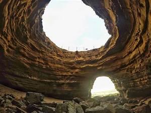 Sunset, Cliffs, Open, Ceiling, Sea, Cave, U2014, The, Last, Adventurer