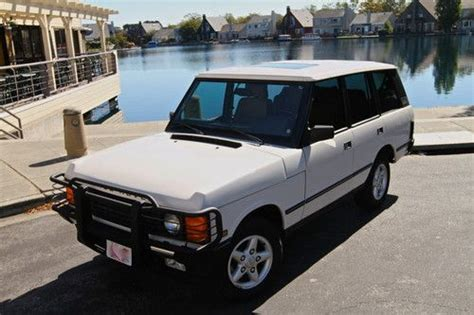 airbag deployment 1988 land rover range rover transmission control buy used stunning 1995 range rover classic swb alpine white 87k orig miles air suspension in san