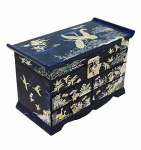 Boite À Bijoux Design : grande boite bijoux bleu artisanat design cor en ~ Melissatoandfro.com Idées de Décoration