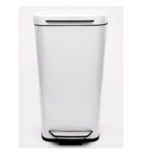 Oxo Kitchen Garbage Cans by Oxo Steel Kitchen Trash Can White In Stainless Steel