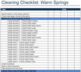 restaurant cleaning checklists