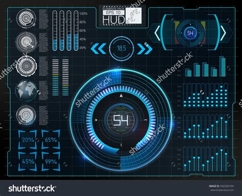 space username 捕鱼达人 futuristic user interface hud background outer space infographic elements digital data