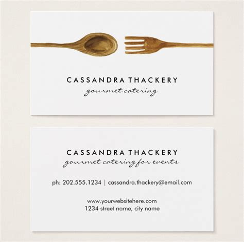 catering visiting card templates 22 catering business card templates ai word psd