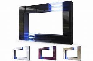 Meuble Tv Mural : meuble tv mural design led samba cbc meubles ~ Teatrodelosmanantiales.com Idées de Décoration