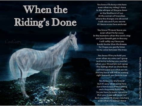 horse poems quotes loss cowboy poem horses sympathy losing quote condolences inspirational equestrian riding google sayings wow done shel quotesgram