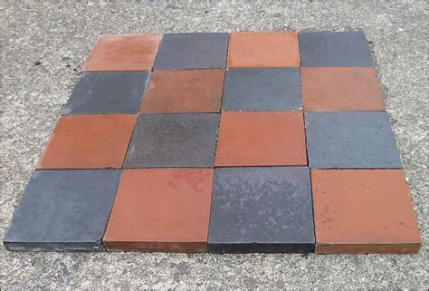 6 inch quarry tiles approx 150 reclaimed quarry tiles in black red 6 inches square collection only ebay