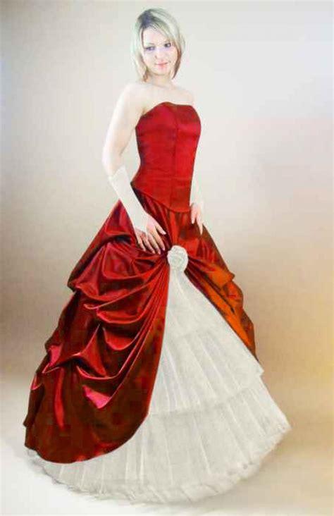 brautkleid mit rot romantisches brautkleid rot schwarz g 252 nstig kleiderfreuden