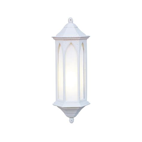exterior light winchester white stone effect gothic wall